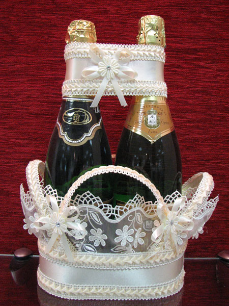 Корзина для шампанского мастер класс